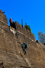 Klettergarten (hermelin52) Tags: deutschland germany nrw ruhrgebiet duisburg landschaftsparkduisburg industriekultur industriegeschichte klauslemke klettern klettergarten