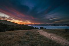 Port Costa (Juan Pablo J.) Tags: sunset sky landscapes longexposurephotography clouds canon5dmkii california coast canon24105mmf4l color