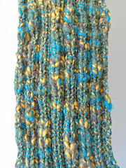 Teal Yellow Wool Scarf (brandacrafts) Tags: knits branda marlteal