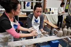 creative lesson (pazitri) Tags: candid street people city fair artisan pottery lesson pazitry paz digitri