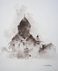 P1018758 (Gasheh) Tags: art painting drawing sketch church monastery architecture pastel gasheh 2018