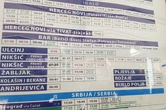 Kotor, Busfahrplan