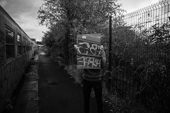 (yoann_lht) Tags: photo photography photographie photographymodel photoshoot streetphotography portraitphotography blackwhite noiretblanc urbex street streetart train factory trainline dark light melancholy usine route