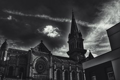 Architecture (s) (LUMEN SCRIPT) Tags: atmosphere mood dark contrast lines france shadow light monochrome blackandwhite shrine arches architecture church