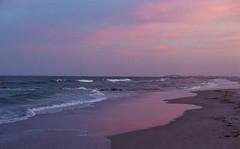 pink dusk (bpwilby) Tags: 35mm 400speed film fuji fujifilm fujisuperia400 nikon nikonf4 superia atlanticcoast beach c41 coast negative newjersey nj printfilm shore stoneharbor sunset
