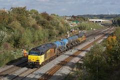 67027 11-10-18 (IanL2) Tags: colasrailfreight colas class67 67027 charlotte wellingborough northamptonshire mml rhtt trains railways