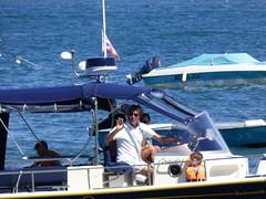 P1100090 (~ l i t t l e F I R E ~) Tags: capferret street candid france bordeaux beach lherbe cabin cabine sand couple man woman men women boat pinasse hotel blue wave flowers