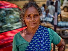 Uchamma. (Prabhu B Doss) Tags: prabhubdoss travelphotography streetphotography usilampatti madurai fu gfx50s gf3264mm portrait india saree paati old woman