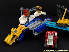 LEGO Transformer Overlord: Gigatank (alanyuppie) Tags: lego transformers cybertron masterforce powermaster tank military cannon overlord decepticon