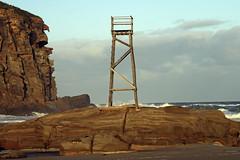 The red head and shark tower (Tim J Keegan) Tags: shark tower sharktower afternoonsun australia nsw huntervalley redheadbeach beach cliff redhead sandstone