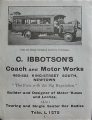 Advertisement for C. Ibbotson's Coach and Motor Works, King Street, Newtown, N.S.W. - early 1900s (Aussie~mobs) Tags: sydney newsouthwales vintage australia advertisement cibbotson motorworks coachworks newtown bus lorry car automobile kingstreetsouth aussiemobs