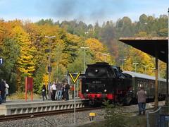 Erzgebirgische Aussichtsbahn Oktober 2018 (littleRedDaemon) Tags: dampflokomotive eisenbahn erzgebirge annabergbuchholz dampflok eab