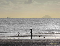 Beach Casting (g crawford) Tags: ayrshire northayrshire crawford clyde riverclyde firthofclyde sea seaside water fishing beach ardrossan threetowns ailsacraig silhouette rod beachcasting beachcasterfishing angling