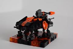 AT-TE (Backview) (WG Productions) Tags: lego star wars moc tron legacy atte te clone starwars clonewars black orange republic gar micro scale
