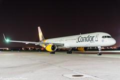 Condor  D-ABOF HAJ at Night (U. Heinze) Tags: aircraft airlines airways airplane planespotting plane flugzeug haj hannoverlangenhagenairporthaj eddv nikon night nightshot