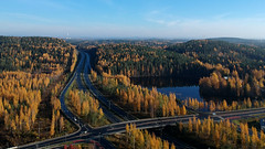 Autumn in Kuopio 5 (arton659) Tags: highway autumn fall drone dji spark unlimitedphotos