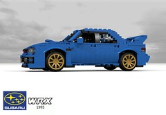 Subaru WRX Sedan - 1995 (lego911) Tags: subaru impreza wrx 1995 1990s rally 4wd 4x4 allwheeldrive winner sedan saloon gold wheels jdm japan japanese auto car moc model miniland lego lego911 ldd render cad povray lugnuts challenge 117 11th 11 anniversary birthday acultfollowing cult following wing turbo boxer afol