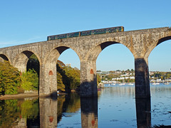 150244 Coombe by Saltash Viaduct (Marky7890) Tags: gwr 150244 class150 sprinter 2p92 saltash railway cornwall cornishmainline train