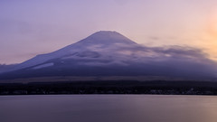 Mt.Fuji in a morning breeze // Yamana lake (onion407) Tags: mountain landscape nature background sunset view hill sky beautiful outdoor travel environment light city cloud mountains beauty scene cold japan volcano lake water famous destination big high tourism strong holiday colorful attraction evening morning color