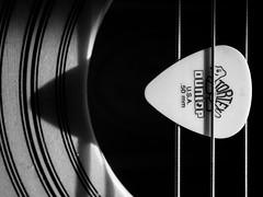P1040915 (Jeffray12) Tags: guitar macro lignes blackandwhite noiretblanc