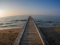 Steg (wezetauswe) Tags: gf7 mft strand meer steg wasser fisheye