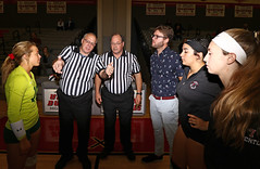 IMG_3156 (SJH Foto) Tags: canon 1018 f4556 stm superwide lens pregame ceremonies ref referee captains coin toss coaches girls high school volleyball bishop shanahan hempfield state pool play championships