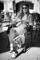 In the shade (Rich Presswood) Tags: 1940s newsteadabbey nottinghamshire reenactor ww2 fujixpro2 mitakonzhongyi35mmf095 mirrorless lady portra160nc monochrome bw black white