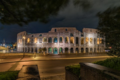 Coloseum by night - Rome (technodude67) Tags: architecture building calm city cityscape cloudy hystorical it italia italy landscape light longexposure monument night outdoor outdoors roma rome skyline street streetphoto travel traveldestination trip wanderlust winter