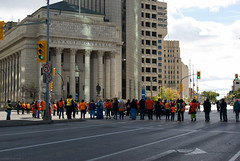 Portage & Main Round Dance 2018-09-30 — 12 (WPG Happening!) Tags: round dance rounddance portage main portageandmain portagemain pm 2018 residential school schools memorial ceremony residentialschools residentialschool canadianindianresidentialschools canadianindianresidentialschool indianresidentialschools indianresidentialschool indian indigenous native canadian nativecanadian american nativeamerican anishinaabe anicinabe people person group circle demonstration memorail commemoration protest winnipeg manitoba canada street road avenue st ave intersection traditional corner buildings building city exchange theexchange district exchangedistrict cityofwinnipeg orange shirt day shirts orangeshirtday