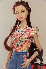 Golden Holiday Poppy Rehairstyled (YOKO*DOLLS) Tags: goldenholidaypoppy doll barbie fashionroyalty jasonwu handmade sewing