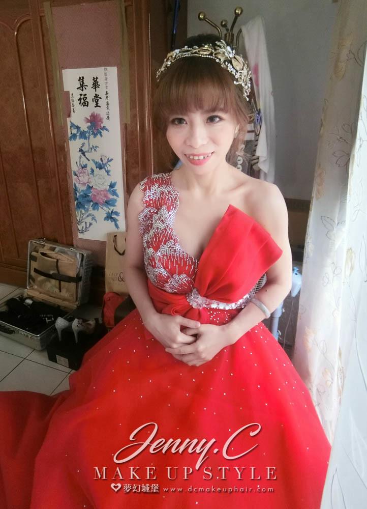 【新秘蓁妮】bride瓊瑩 訂婚造型 / 南投自宅