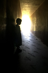 Acceptance is enlightenment (photographe_d) Tags: tunnel prison girl silhouette