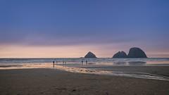 Oregon sunset (spawc) Tags: oregon canonbeach beach sunset landscape beachscape