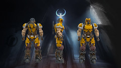 SLIPGATE MARINE (IAmDest) Tags: lego moc spacemarine ldd model scifi videogame marine soldier ranger quake actionfigure person shooter figure champion quakechampions quake1 axe trooper
