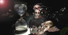 We Have All The Time In The World (tamarind.silverfall) Tags: thesecretaffair zibska salem misschevious neojapan una blackbantam empyreanforge {anc} halloween time hourglass vampire skeleton