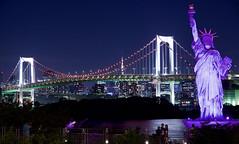 レインボーブリッジ Rainbow Bridge (ELCAN KE-7A) Tags: 日本 japan 東京 tokyo レインボーブリッジ rainbow bridge ピンク リボン pink ribbon ペンタックス pentax k3ⅱ 2018 イルミネーション illumination ライトアップ