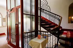 Old fashioned elevator (A. Wee) Tags: stmoritz 瑞士 hotel soldanella 酒店 elevator lobby staircase 圣莫里茨 switzerland