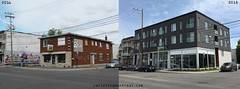 Before / After: Jean Talon (Vanishing Montréal) Tags: history villedemontreal montreal histoire photography art architecture demolition disappearinghistory newconstruction