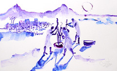 AFRICA TO THE NAKED 221 (eduard muntada) Tags: africa to the naked 221 mountains aficapeople sun light blue purple