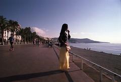Untitled (2) (4) (machilone) Tags: film fuji nizza nice analog minolta ilobsterit france sea summer sky girl