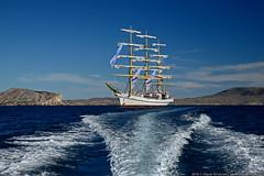 DSC_7741 (yuhansson) Tags: фрегат херсонес море чёрное парусник крым паруса парус корабли корабль путешествие путешествия югансон юрий boat sea sky water vessel ship sailing новыйсвет судак