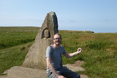 Tal raises a definant fist for some reason (Bods) Tags: clevelandwaymonument walk yorkshirewoldsway fileycountrypark yorkshirewoldswaymonument clevelandway yorkshirewoldswayday5 gantontofileywalk northyorkshire filey fileybrigg