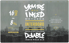 YOUR'E ALL I NEED by The Heads of State for Interboro Spiris & Ales (Label_Craft) Tags: beer beers craftbeer brew suds ale hops labels craft labelcraft beerlabel design illustration type fonts burp beerme brewery interboro interborospiritsandales interboroales motueka ddh doubleipa dipa iipa ipa williamsburg brooklyn nyc