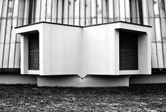 (Delay Tactics) Tags: slovenia ljubljana tivoli park vent ventilation double two grass black white blackandwhite bw film cubes cubist cubism