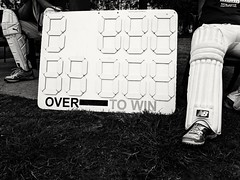Scoreboard (Raja Islam) Tags: cricket sydney scoreboard board bat pad shoes players