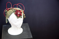 Daniella Sasvari - Level 6 'Floral Hat'(48)) (The Learning Connexion) Tags: exhibition student artstudents artcreativity artist jewellery 3d sculpture metal silver gold wood ceramic stone bronze copper enamel t318