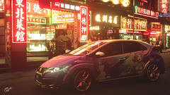 Honda Civic Type-R (Matze H.) Tags: honda civic typer gt sport gran turismo anime livery manga paint job japan night neon lights dark nippon tuning rims wheels lisbeth playstation 4 pro uhd hdr 4k wallpaper matte pearl flip flop