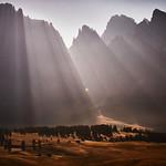 Morning light through the Sassolungo thumbnail
