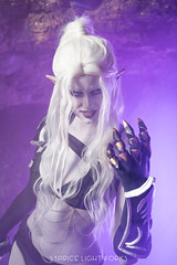 Drow elf (S1Price Lightworks) Tags: drow elf cosplay cosplayer dark drizzt dungeons dragons ra salvatore cave lloth beauty evil girl photoshoot portrait portraiture smoke gels canon