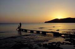 Salinas Ibiza (LorenzoGiunchi) Tags: reflection sky sea people sunset beach ibiza